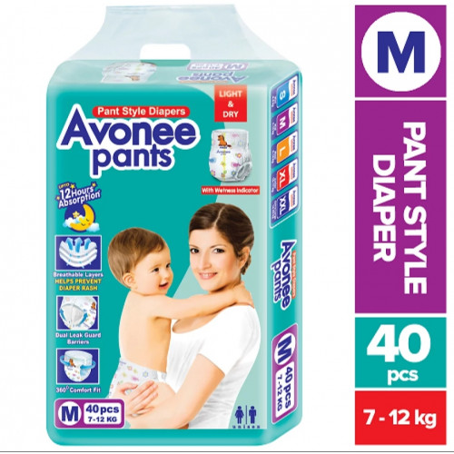 Avonee Medium Pant Diaper 7-12Kg 40Pcs