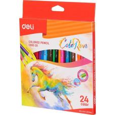 Deli Colored Pencil 24 Colors