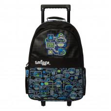 Smiggle Wizz Light Up Trolley Backpack Black