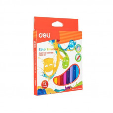 Deli Color Emotion Plastic Crayon 12 Colors C200 00