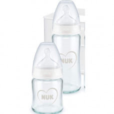 NUK First Choice+ Anti-Colic Glass Baby Bottle 120 mL