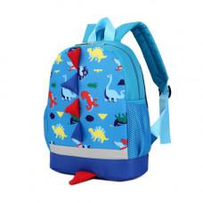 Cute Cartoon Kid Backpack Dinosaur: Blue