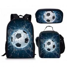 ForUDesigns Cartoon Football Backpack- Water 3 Pcs/set