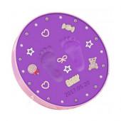 Sculpture Baby Handprint and Footprint - Purple