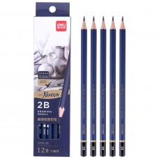 Deli Arte Nuevo 2B Drawing Pencil 12 Nos