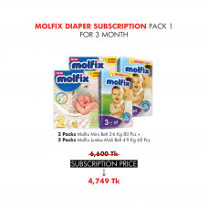Molfix Diaper Subscription Pack 1 for 3 Months