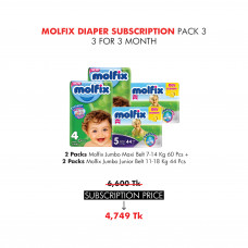 Molfix Diaper Subscription Pack 3 for 3 Months