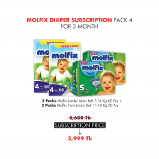 Molfix Diaper Subscription Pack 4 for 3 Months