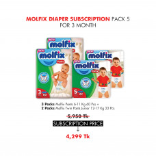 Molfix Diaper Subscription Pack 5 for 3 Months