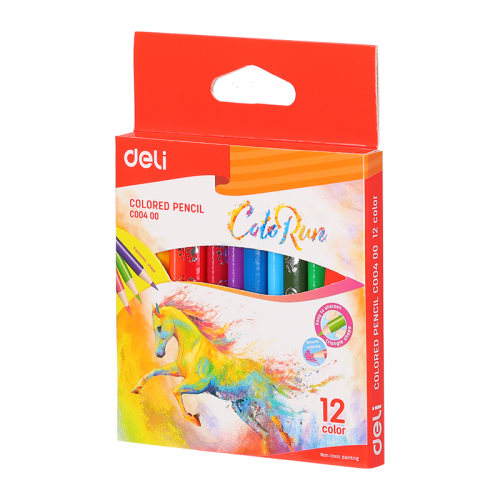 Deli ColoRun Colored Pencil Mini 12 Colors