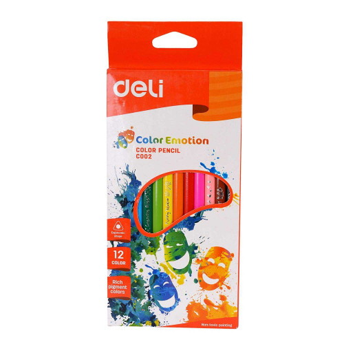 Deli Color Emotion Color Pencil 12 Colors