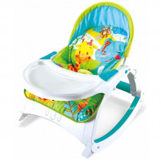 2 in 1 Toddler Portable Baby Rocker with Dining Table