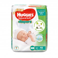 Huggies Baby Diaper Ultra New Born Belt Up to 5 kg 48 Pcs