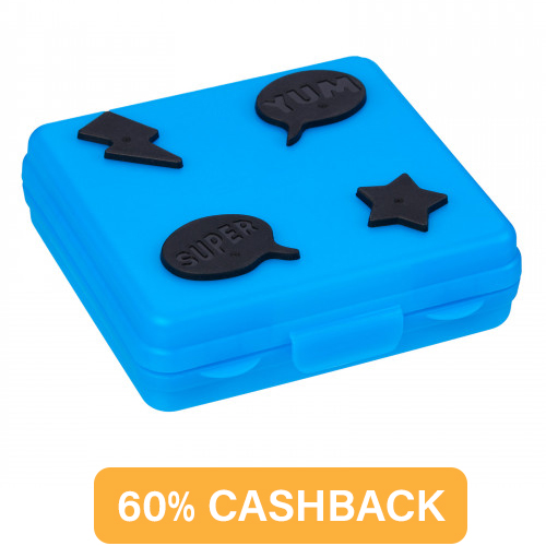 Smiggle Super Sandwich Container Mid Blue