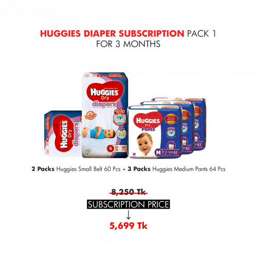 Huggies Diaper Subscription Pack 1 for 3 Months