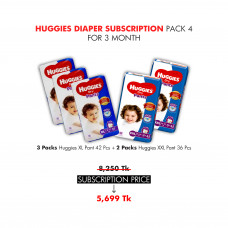 Huggies Diaper Subscription Pack 4 for 3 Months