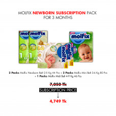 Molfix Newborn Subscription Pack for 3 Months