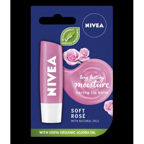 NIVEA Lip Balm Soft Rose with Natural Oils