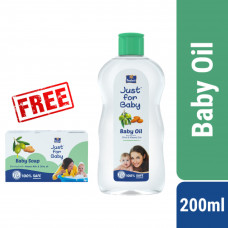 Parachute Just for Baby Baby Oil 200 mL (Free 75 gm Baby Soap)