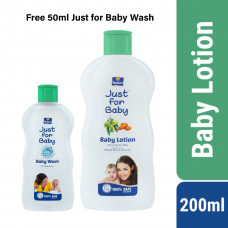 Parachute Just for Baby Baby Lotion 200 mL (Free 50ml Just for Baby Wash)