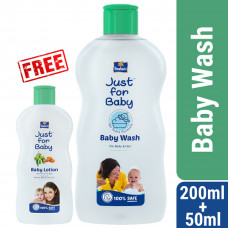 Parachute Just for Baby Baby Wash 200 mL (Free 50ml Just for Baby Lotion)