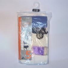 M&S 5 Pack Cotton Lycra High Waisted Full Briefs Assortment 5