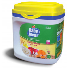 Baby Meal Infant Milk Wheat & 3 Fruits Cereal Jar