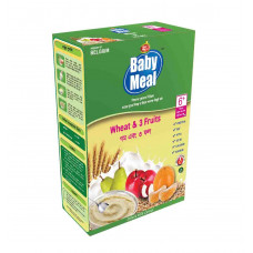 Baby Meal Infant Milk Wheat & 3 Fruits Cereal BIB