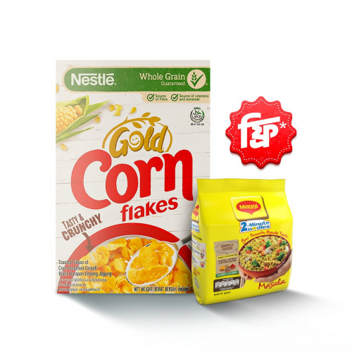 Nestlé Corn Flakes Gold Breakfast Cereal Box 275 gm