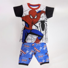Boy's T-Shirt With Pant Spiderman - Black