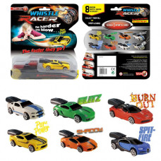 Whistle Racer Air-Powered Race Car Toys with Launcher