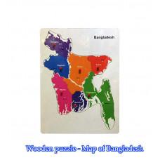 Wooden Puzzle Bangladesh Map
