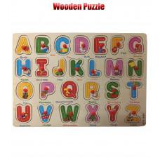 Wooden Puzzle Alphabet ABCD