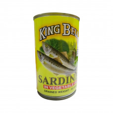 King Bell Sardine in Vegetable Oil 155 gm