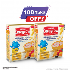 Nestle Ceregrow Multigrain BIB 300 gm (Buy 2 Get 100 Tk OFF)