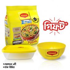 Nestle MAGGI 2-Minute Noodles Masala 4 Pack 248 gm (Free Bowl)