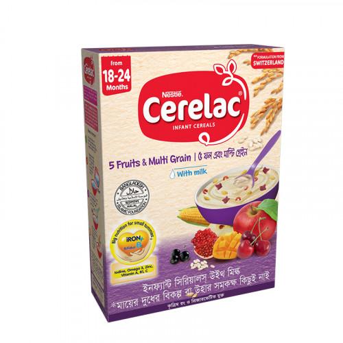 Nestlé Cerelac Stage 5 Fruits & Multi Grains 18 months + 400 gm BIB