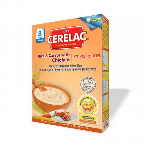 Nestlé Cerelac Stage 2 Rice Carrot & Chicken 8 months + 400 gm BIB