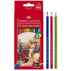 Faber-Castell Classic Color Pencils Long Paper Box 12 Pcs