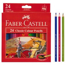 Faber-Castell Classic Color Pencils Long Paper Box 24 Pcs