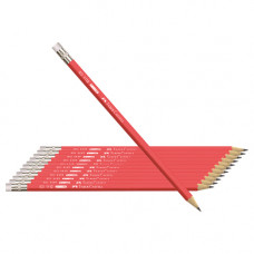 Faber-Castell Red Matt-HB/ 2B Pencil 12 pcs Pack