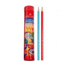 Faber-Castell Aquarellstifte Watercolor Pencils Long Tin 12 Pcs