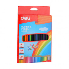 Deli Colored Pencil Triangle 36 Pcs