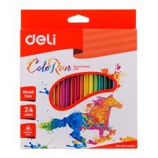 Deli ColoRun Colored Pencil Plastic 24 Colors