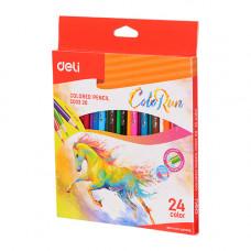 Deli ColoRun Colored Pencil Wood 24 Colors