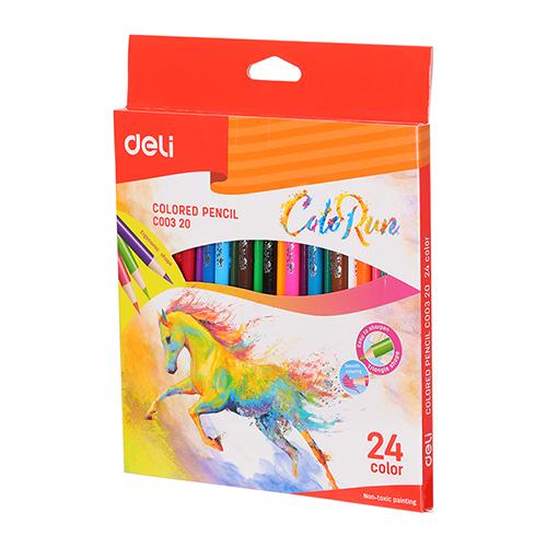 Deli Colored Pencil 24 Pcs