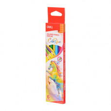 Deli Colored Pencil 6 Pcs