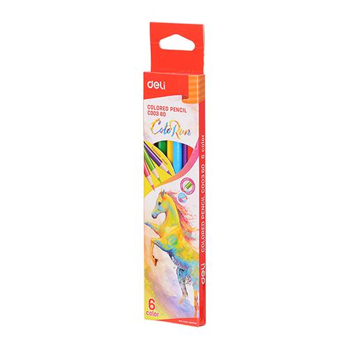 Deli Colored Pencil 6 Pcs