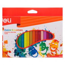 Deli Color Emotion Plastic Crayon 24 Colors