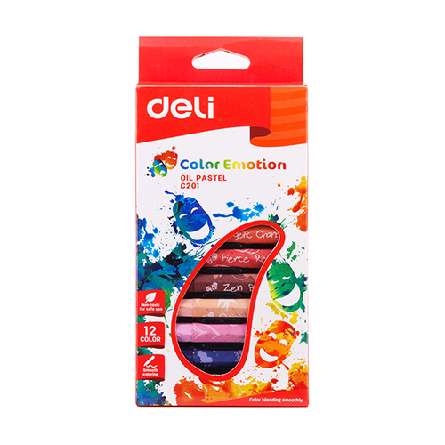 Deli Color Emotion Oil Pastel 12 Colors